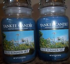 Lot of 2 Yankee Candle NEW  Blue Summer Sky  Housewarmer 22 oz.Candles Free Ship