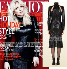 $3,500 FAMOUS RUNWAY GUCCI DRESS CRACKLED PATENT LEATHER DRESS CUTOUT 38 2