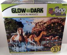 Master Pieces, Running Free, Horse, Glow in the Dark, Hidden Images Piece Puzzle