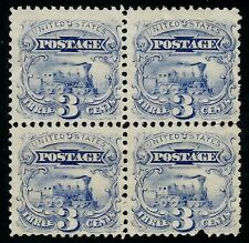 "US Sc# 114 *UNUSED LH* (( ""SPLIT GRILLS"" VARIETY )) ""SCARCE"" BLOCK OF 4...USA"