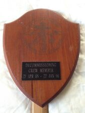 U.S.S. Puget Sound (AD-38) Decommissioning Crewmember  ship's plaque