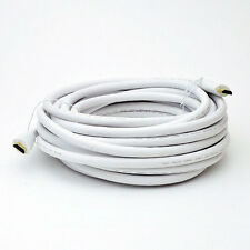 40Ft HDMI Male to Male High Speed with Ethernet WHITE Cable 24AWG 1.4V CL2 Rated
