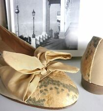 LADYSTAR Damen Ballerinas Pumps TRUE VINTAGE UK 6 handmade satin apricot Gr. 39