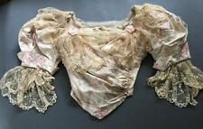 Paris 'Mme. Arnaud' label 1890's Watered Silk Princess Bodice, HM Lace: Museum