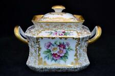 Rare Antique Rosenthal Covered Sugar Bowl Handpainted. Excellent Condition