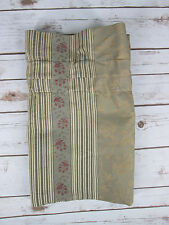 "Wamsutta Valance Gold Green Red Flower Floral Stripe 84"" x 15"" Window Covering"