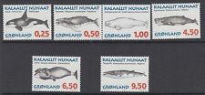 GREENLAND :1996 Whales series 1 SG 296-301 MNH
