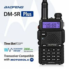 Baofeng DM-5R Plus Dual Band DMR Digital Radio Walkie Talkie, VHF / UHF 136-174