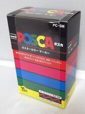 Uni Posca PC-5M 15 Color Markers set 1.8-2.5mm marqueur paint Japan New F/S
