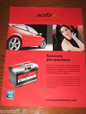 *AP99=SAFA BATTERIE=PUBBLICITA'=ADVERTISING=WERBUNG=COUPURE=
