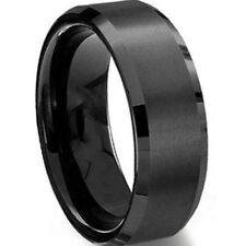 8MM Stainless Steel Ring Band Titanium Silver Black Gold Men SZ 7 to 15 Wedding