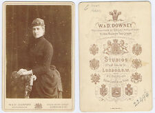 CABINET CARD Photograph Lady named Miss Adam by W&D Downey of London