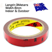 AU STOCK 3M Genuine Double Face Sided Tape 8mm 3 meters Automotive Grade