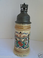 VINTAGE THEWALT SCULPTED MILITARY  GERMAN BEER STEIN