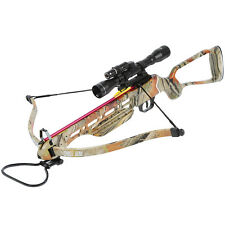 150 lb Camouflage Hunting Crossbow Bow w/ 4x20 Scope + 12 Bolts / Arrows 180 80