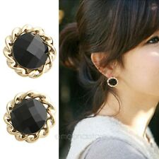 Fashion Lovely Jewelry Gifts Vintage Style Big Flower Round Earrings Ear Studs