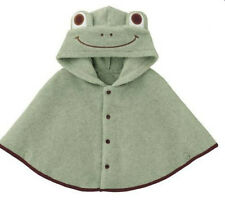 Baby Green Frog Boy Hooded Cloak Poncho Jacket Outwear Coat Costume 0-24Months