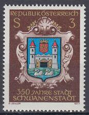 Österreich Austria 1977 ** Mi.1552 Stadt City Schwanenstadt Wappen Crest