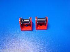 Lego® 2 Seilwinden 2584 rot mit schwarzer Rolle gebraucht