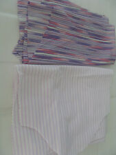LAVENDER/PINK/WHITE MATERIAL, 2 PIECES, TOTAL OF 1/3 YARD