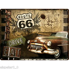 Blechschild 30 x 40, Route 66 Road Trip, Werbeschild Art. 23147