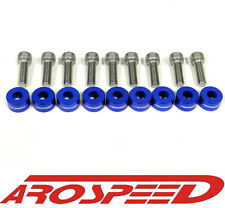 AROSPEED BLUE CNC BILLET 8MM HEADER MANIFOLD BOLT & CUP WASHER KIT