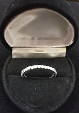 PLATINUM & SS LCS DIAMOND  ETERNITY WEDDING  BAND RING SZ 5 + GIFT