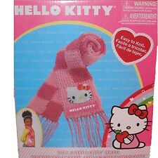 Rare Sanrio Knit a Hello Kitty Yarn Scarf Handmade Craft Kit Girls New in Box