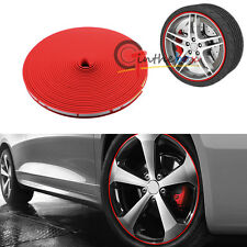 "315"" Car Wheel Hub Rim Protector Tire Ring Guard Sticker Rubber JDM Red Strip"