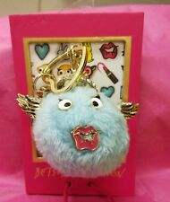 Betsey Johnson Fuzzy Blue Angel Key Ring & Picture Frame