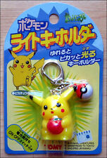 Pokemon Pikachu With Pokeball Light Up Keychain Toy Figure by Tomy RARE ITEM!!!