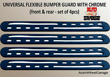 Bumper Protection Flexible Guard for Ford Figo Aspire-Chrome inserts-set of 4