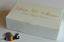 PERSONALISED x 50  Wedding Favour Cake Boxes 100x60x30mm * only £14.72 inc. del.