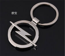 1 Pc New key ring Opel car logo key chain silver color 3D promotional trinket
