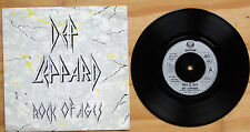 "EX/EX DEF LEPPARD ROCK OF AGES b/w ACTION NOT WORDS 7"" VINYL 45 P/S (VER 6)"
