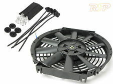 "10"" Universal Electric 12V 80W Radiator/Intercooler Fan + Pull Thru Fitting Kit"