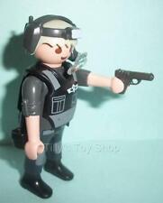 Playmobil figura oficial de policía con cabello gris & Pistola de Plástico-Nuevo