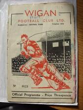 15/11/1958 Rugby League Programme: Wigan v Hull  (stained throughout, rusty stap