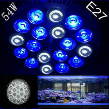 E27 54W 12Blue  6White LED Coral Reef Grow Light par 38Fish Tank Aquarium Light