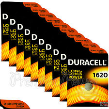 10 x Duracell Lithium CR1620 3V Coin Cell batteries DL1620 ERC1620 KRC EXP:2025