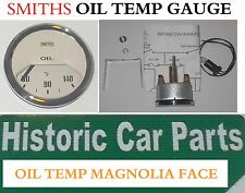 "SMITHS OIL TEMPERATURE GAUGE - 50-140 Centigrade MAGNOLIA FACE - ""OIL Temp"""