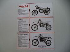 advertising Pubblicità 1982 MOTO VILLA 125 SEBRING/125 MC/250 SME ARGENTA