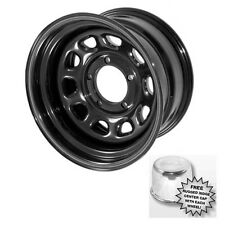 Black Steel Wheels Set Of 4 15X8 5x4.5 Jeep Wrangler YJ TJ 15500.01 Rugged Ridge