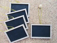 "12pc Mini Chalkboard with Wooden Frame 2""x3""/Wedding/Message Board/Home Decor M5"