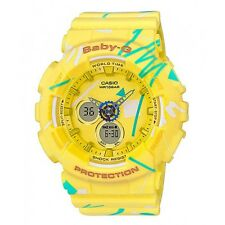 Casio Baby-G BA120SC-9A Yellow Graffiti Digital Analog Women's BA-120SC-9A Watch