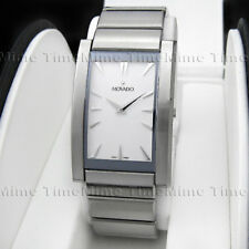 Men's Movado LA NOUVELLE White Dial Stainless Steel Swiss Quartz Watch 0605560