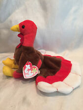 Collectible 1996 Retired Ty Beanie Baby Gobbles Turkey Born November 27, 1996