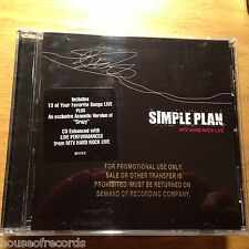Simple Plan : MTV Hard Rock Live RARE GOLD STAMP PROMO CD (2005) NEW NOT SEALED