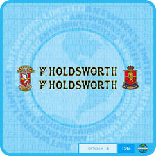 Holdsworth - Bicycle Decals Transfers Stickers - Black Fill & Gold Keyline Set 8