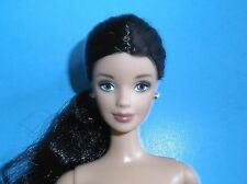 NUDE BRUNETTE MACKIE FACE VERY LONG HAIR BARBIE FREE SHIPPING
